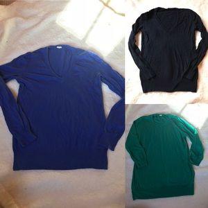 Trio of J Crew Factory long sleeve sweaters